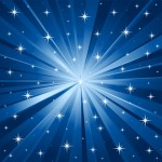 Description:Abstract blue vector background with stars.